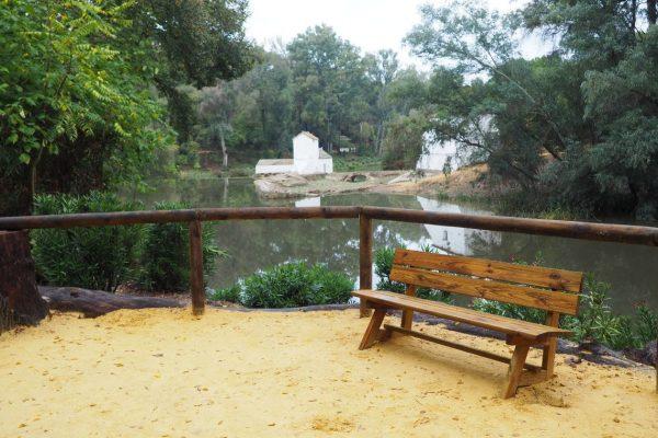 Mirador y molino en río Guadaíra